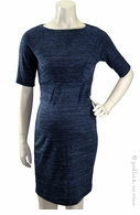 Jules & Jim Maternity Madmen Ponte Knit Dress Navy Mix