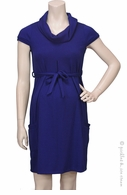 Jules & Jim Maternity 2 Pockets Dress Royal Blue
