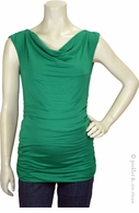 Jules & Jim Maternity Kelly Green Shirred Top