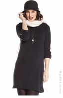 Jules & Jim Maternity Sweater Knit Navy Sheath Dress
