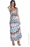 Jules & Jim Maternity Hypnotic Turquoise Maxi Dress