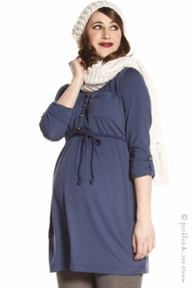 Jules & Jim Romantic Tunic Navy - Final Sale