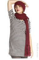 Jules & Jim Maternity Black & Ivory Stripe Tunic