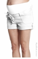 Jules & Jim Maternity Comfy Cargo Shorts White