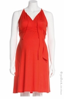 Jules & Jim Maternity Sexy Sundress Dress Sunrise Orange- Final Sale