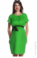 Jules & Jim Maternity Soft Linen Dress Green - Final Sale