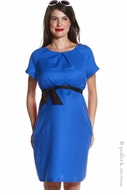 Jules & Jim Maternity Soft Linen Whirlpool Blue Dress