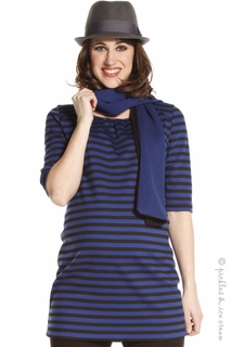Jules & Jim Maternity Stripe  Blue & Black Tunic