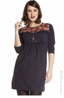 Jules & Jim Maternity Navy Winterflower Dress