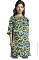 Leota Maternity Stain Glass Sheath Dress