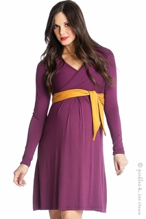 Lilac Maternity Abby Sash Dress Purple - Final Sale