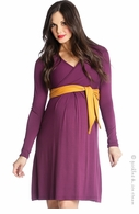 Lilac Maternity Abby Sash Dress Purple