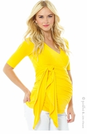 Lilac Maternity Bella Wrap Top Yellow - Final Sale