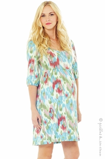 Maternity Clothes: Lilac Maternity Kalli Watercolor Dress - Click to enlarge