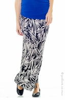 Lilac Maternity Leaf Print Maxi Skirt - Final Sale