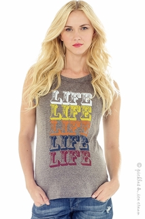 Maternity Clothes: Lilac Maternity LIFE Muscle Tee - Final Sale  - Click to enlarge