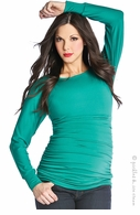 Lilac Maternity Taylor Top Emerald Green