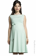 Leota Maternity Mint Basketweave Ilana Dress