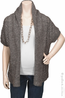 Rene Maternity Dolman Sweater Cardigan Grey- Final Sale