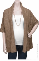 Rene Maternity Dolman Sweater Cardigan Tan