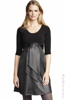 Maternal America Maternity Sleek Front Tie Party Dress - Final Sale