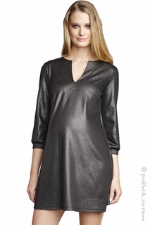Maternal America Sleek Lurex Shift Dress - Final Sale