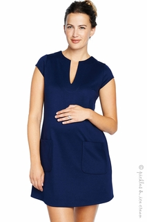 Maternal America Navy Pocket Shift Dress