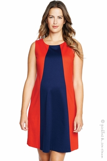 Maternal America Red & Navy Pyramid Dress - Final Sale