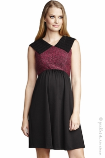 Maternal America Pink & Black Tweed Sweater Dress