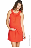 Maternal America Braided Neck Red Halter Dress - Final Sale