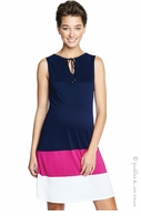 Maternal America Navy & Magenta Colorblock Dress - Final Sale