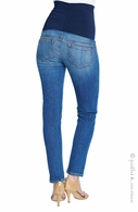 Maternal America Maternity Belly Support Ankle Jeans Classic Blue