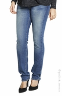 Maternal America Maternity Belly Support Jeans Classic Blue