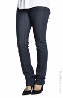 Maternal America Maternity Belly Support Jeans Dark Blue