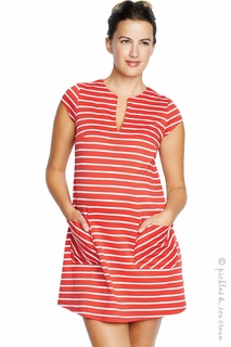 Maternal America Red and White Stripe Shift Dress