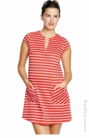 Maternal America Red and White Stripe Shift Dress - Final Sale