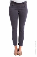 Maternal America Skinny Ankle Cement Grey Jeans