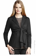 Maternal America Maternity Long Sleeve Tie Front Black Blazer
