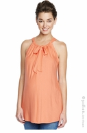 Maternal America Tie Halter Top Coral -Final Sale