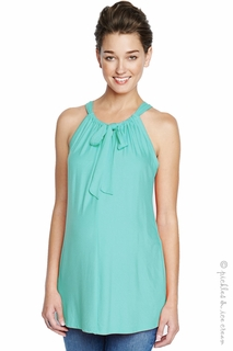 Maternal America Tie Halter Top Mint Green
