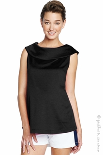 Maternal America Black  Jackie Top