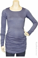 Michael Stars Maternity Shine Ruched Tunic Tee Caspian Sea