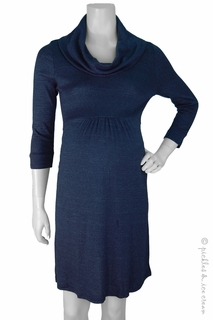 Maternity Clothes: Michael Stars Maternity Shine Cowl Neck Dress Marlin - Click to enlarge