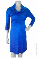 Michael Stars Maternity Shine Cowl Neck Dress Adriatic