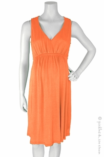 Maternity Clothes: Michael Stars Maternity Shine Sleeveless Dress Tangerine - Click to enlarge