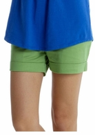 Mothers en Vogue Comfy Sateen Shorts Green
