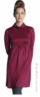 Mothers en Vogue Maternity & Nursing Must-Have Turtleneck Long Sleve Dress Cherry Red
