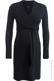Maternity Clothes: Noppies Undine Collar Dress Navy- Final Sale  - Click to enlarge