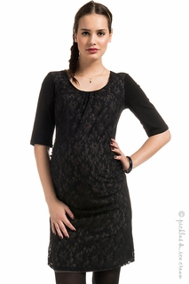 Maternity Clothes: Noppies Maternity Jaydn Lace Overlay Dress-Final Sale - Click to enlarge