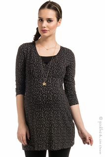 Maternity Clothes: Noppies Maternity Maria Floral Tunic - Click to enlarge